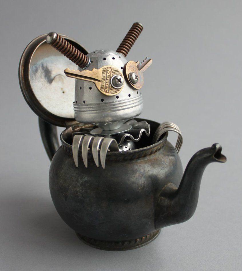 found+objects+art   found object sculpture 4 by *adoptabot on deviantART