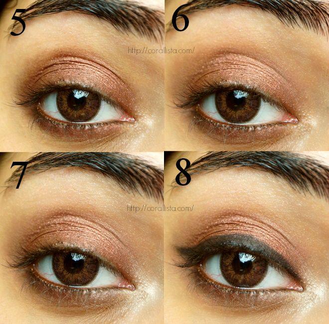 mac antiqued eye shadow tutorial make up bag pinterest