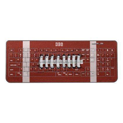 Monogrammed american football wireless keyboard monogram gifts monogrammed american football wireless keyboard monogram gifts unique custom diy personalize bookmarktalkfo Gallery