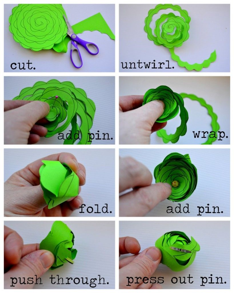 Small paper flowers craft - Paper Handicraft Flower Step By Step Google Search