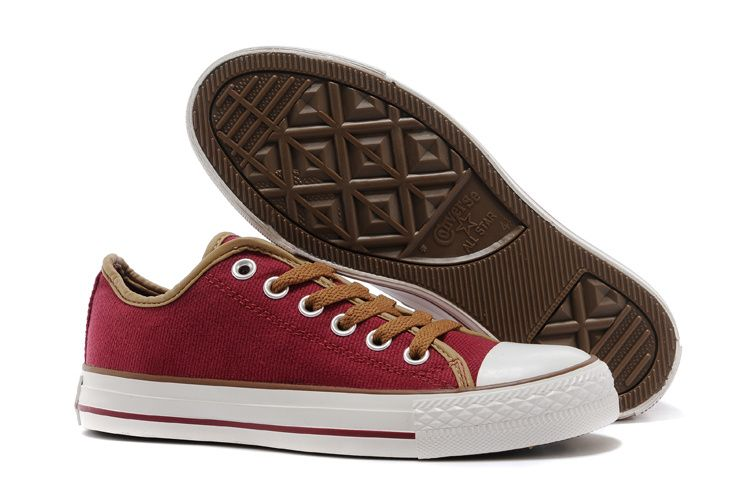 converse Converse Wine Red Brown Low Tops Chuck Taylor All