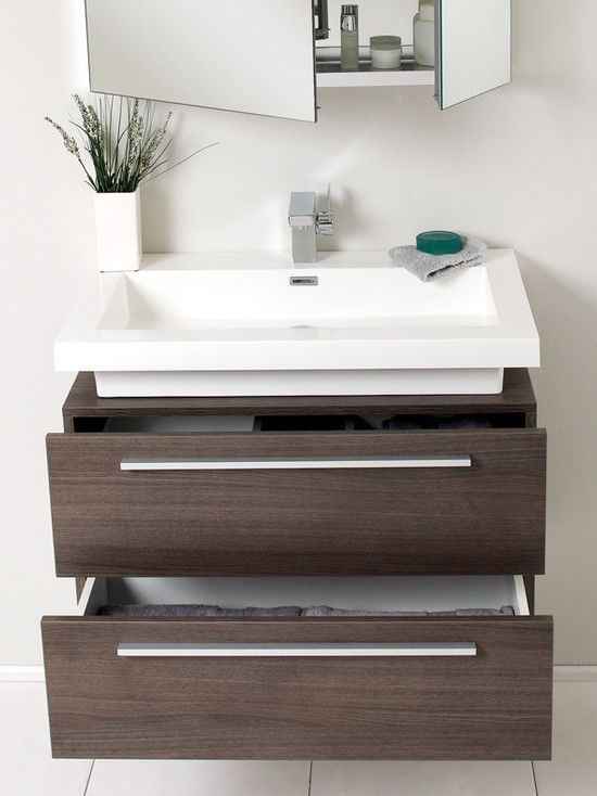 perfect for my bathroom! want a floating vanity with basin on top