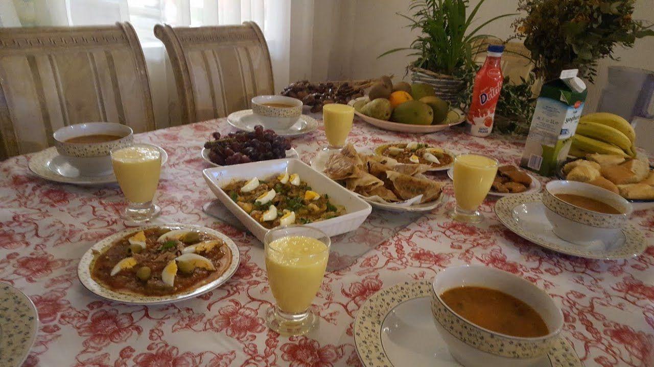 طاولة عشاء اول يوم رمضان متنوعة صحيةاقتصاديةوتونسية 100 Table Settings Table