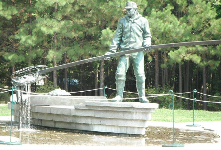 Chesapeake Bay Area Home To Watermen Who Harvest Crabs And Oysters Statue  Stands In Ann Marie