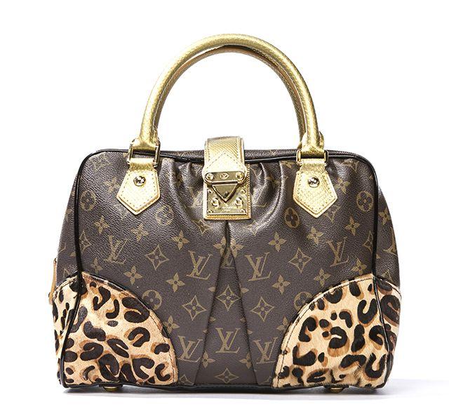 22d7080a354 louis vuitton leopard purse   Louis Vuitton Monogram Leopard Canvas Adele  Ed Stephen Sprouse Bag .