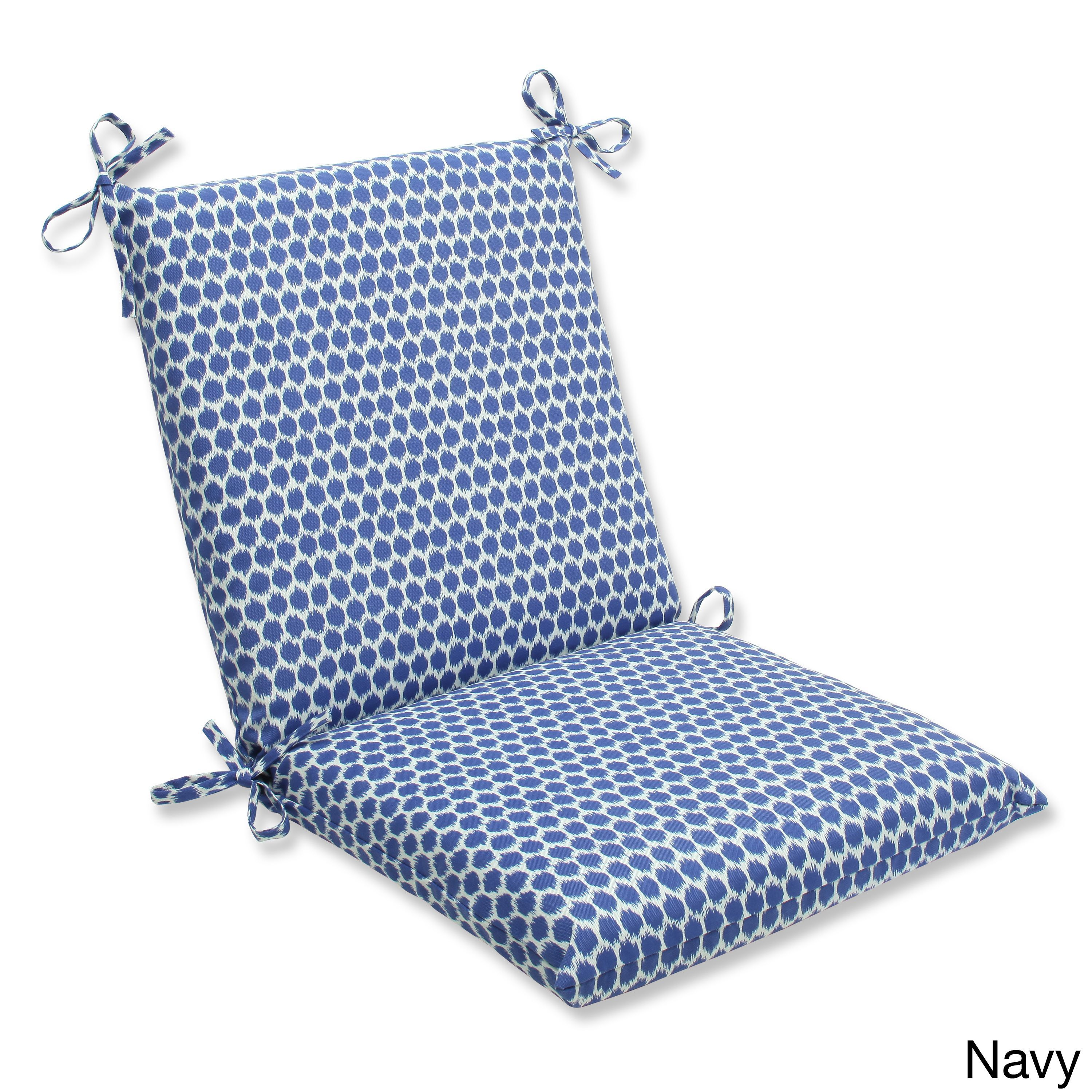 pillow perfect seeing spots squared corners outdoor chair cushion