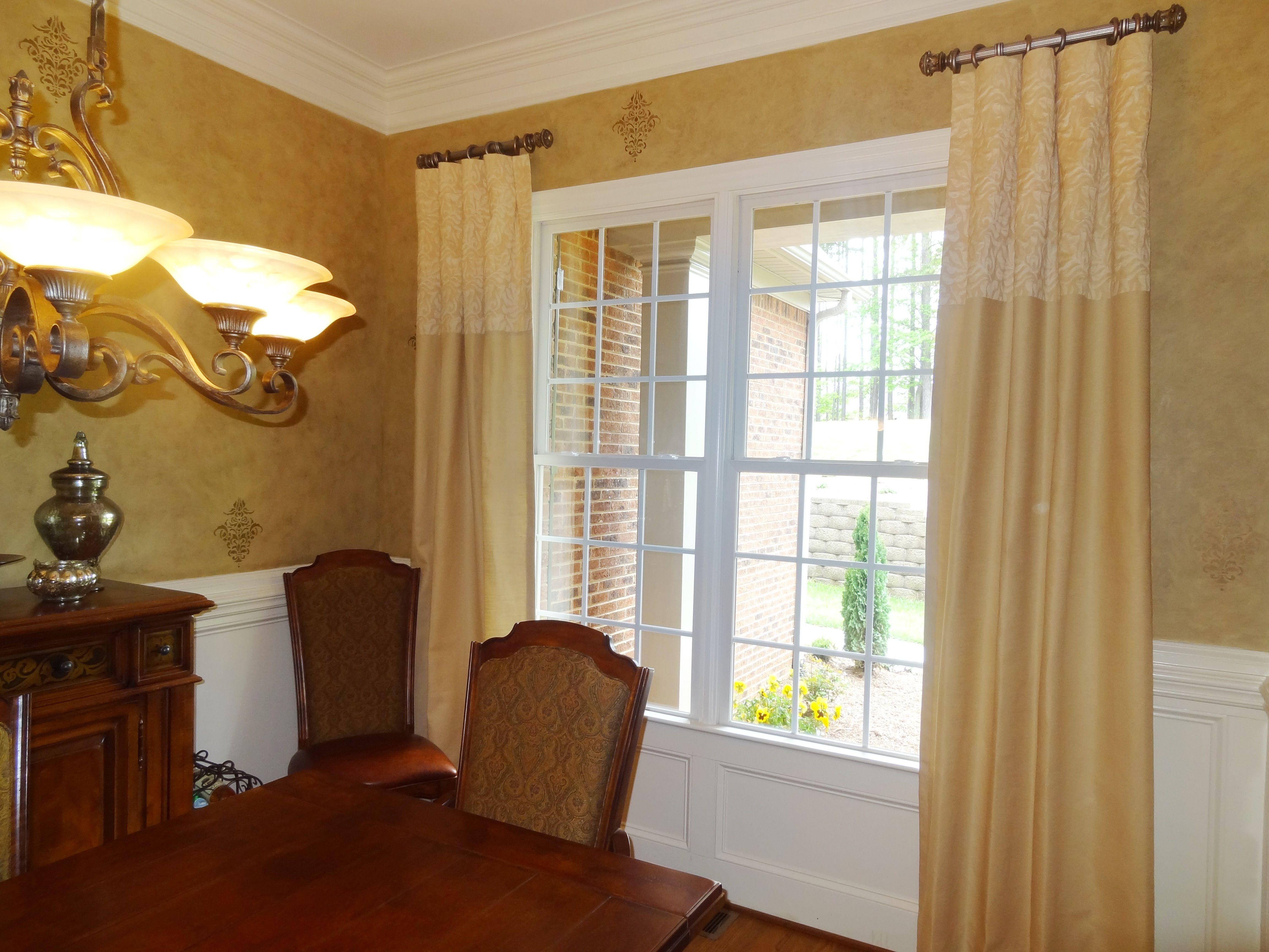 Window Treatments Silk Linen Custom Tone On Tone Beautiful Cool Drapes For Dining Room 2018