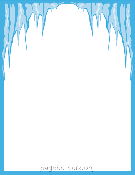 Printable Icicle Border. Use The Border In Microsoft Word Or Other Programs  For Creating Flyers  Microsoft Word Page Border Templates