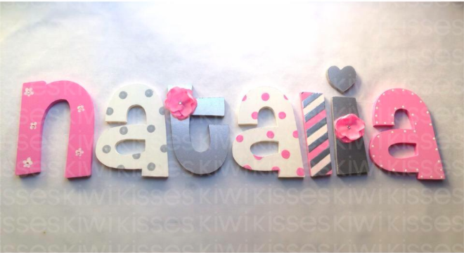 Wood decor letters letras de madera para decorar http - Letras de nombres para decorar ...