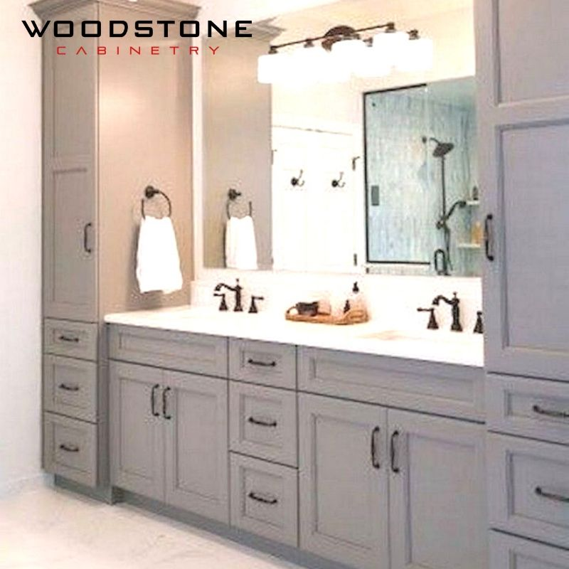 The Size Of Your Cabinet Depends On How Big Or Small Your Bathroom Is It Can Be A Master Luxurious Bathroom Or Powder Room Small Small Washroom Large Cabinet Rta bathroom cabinets near me