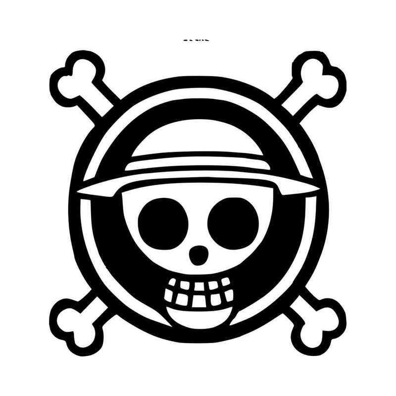 One Piece Logo Vinyl Decal Sticker Art Logo Jolly Roger
