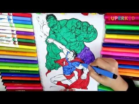 Superman Vs Hulk Coloring Page For Kids Superman Vs Hulk Fight For Preschoolers Youtube Coloring Pages Hulk Coloring Pages Coloring Pages For Kids