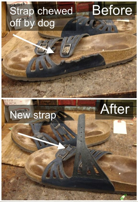 4008fc03ff28c Birkenstock Repair - Replaced strap chewed off by dog. | These boots ...