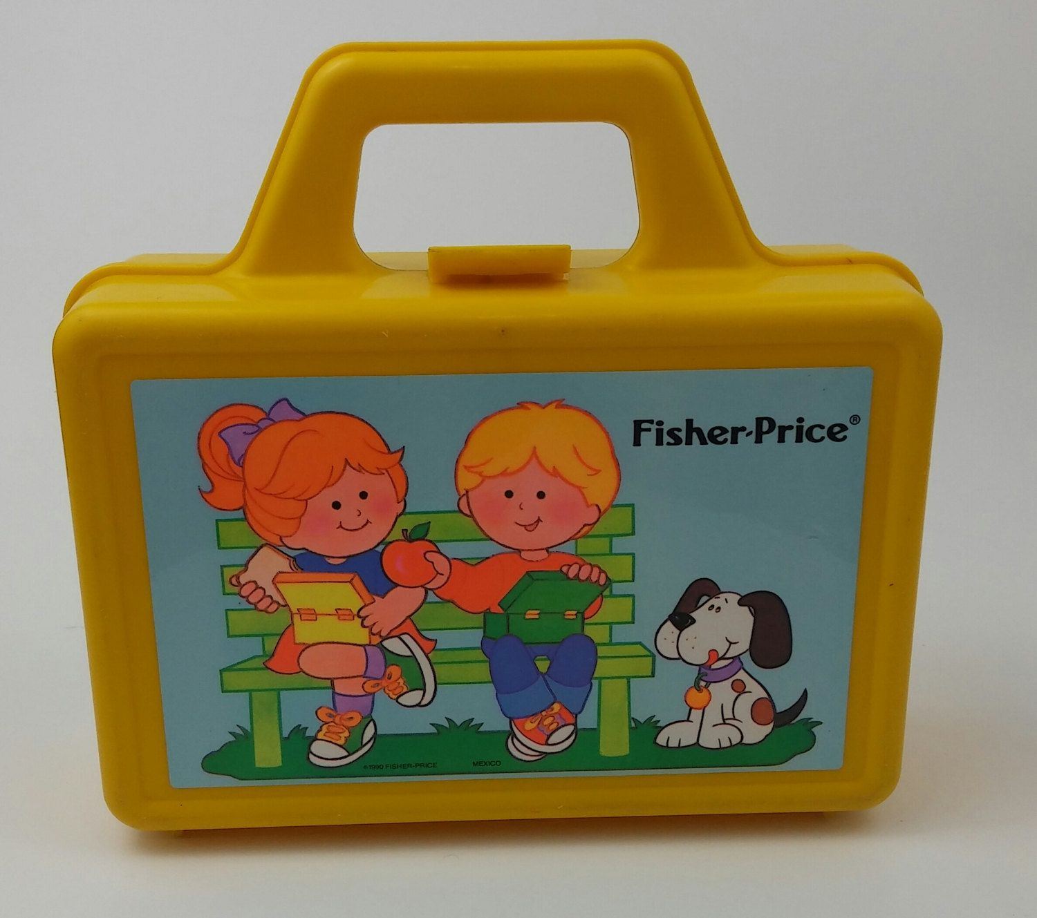 Fisher Price VIntage Lunch Pail Lunch Box 1990 Kids Child Toddler by Cooltraderguys on Etsy