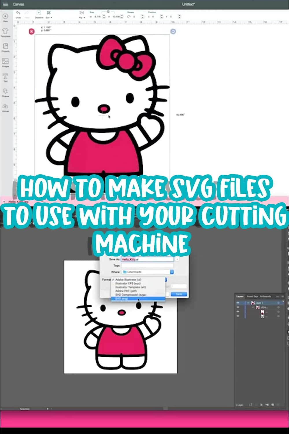 How To Make SVG Files To Use With Cricut and Silhouette