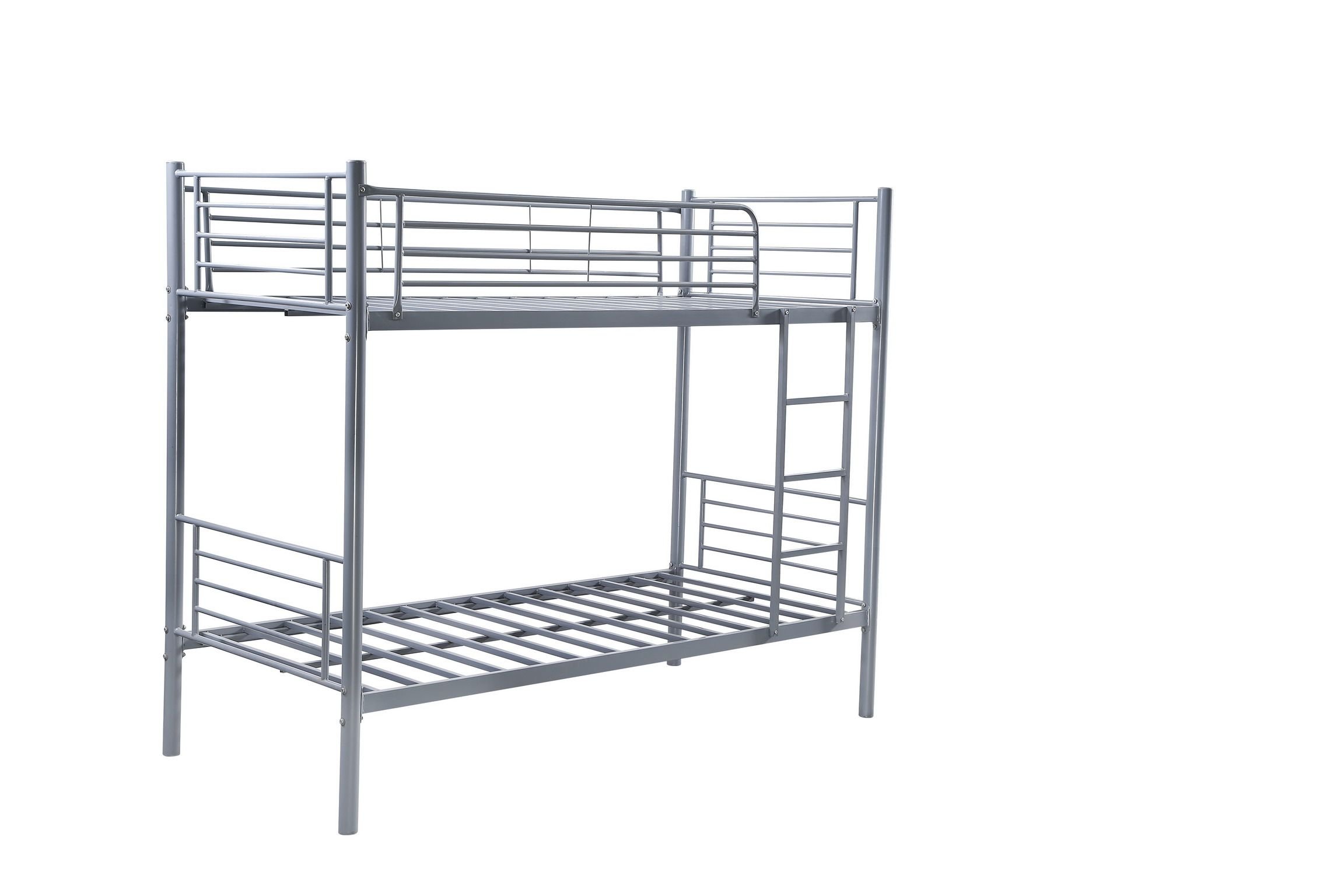 Single Metal Frame Children Space Saving Silver Bunk Bed Kids Bed Cheap Price Bed Cheap Kids Bedding Kid Spaces Space Saving