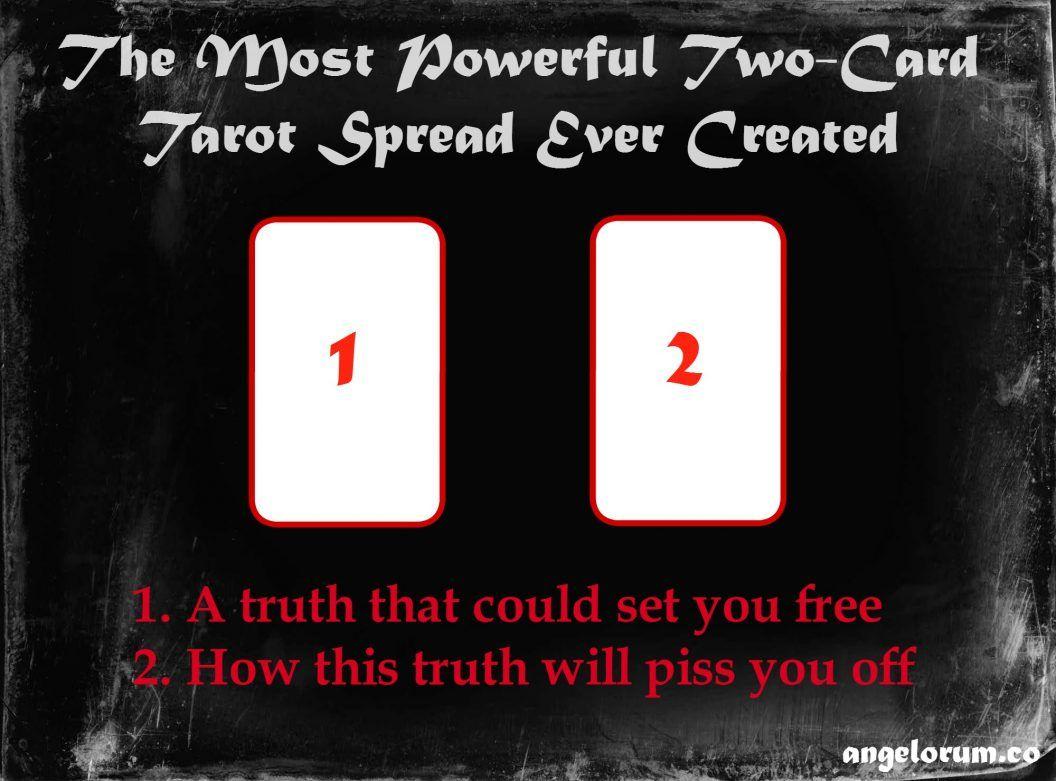 The Most Powerful Two-Card Tarot Spread Ever | Tarot | Tarot
