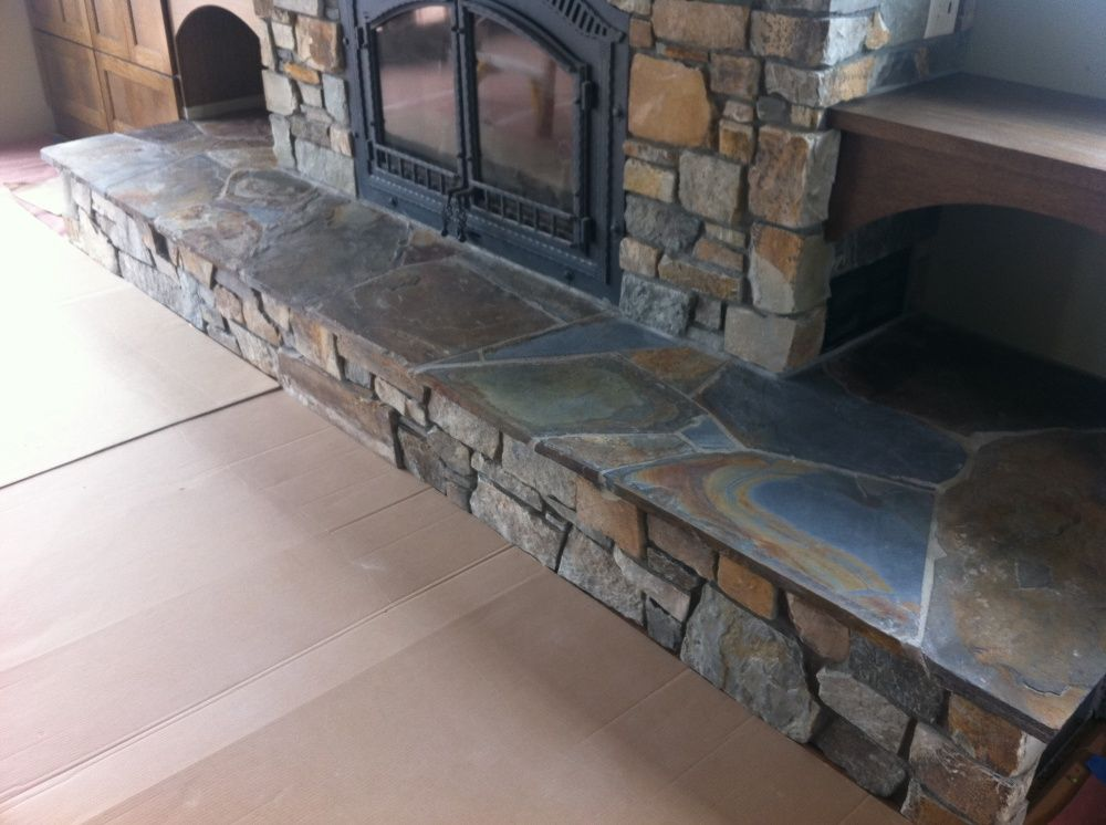 Laying Flagstone Hearth Google Search Hearth Fireplace Hearth