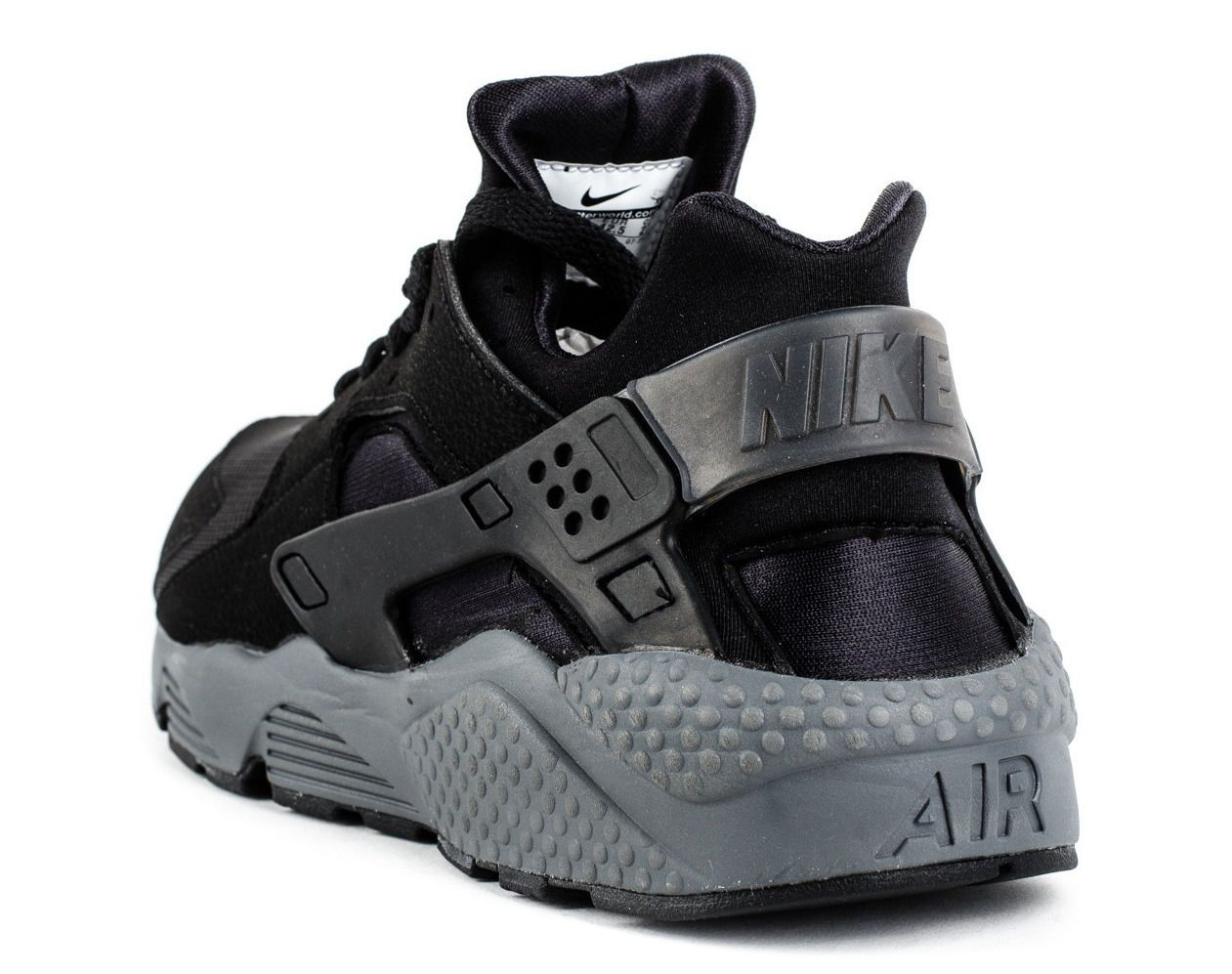 e29e055e8391 Nike Air Huarache Black Grey New Runner World Shipping Triple 318429 010 EU  JP