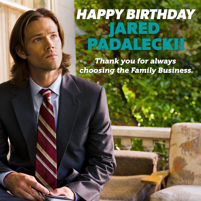 Supernatural Happy Birthday Jared