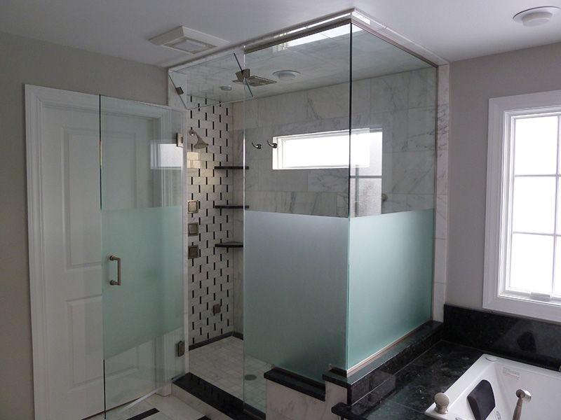 bathroom:bathroom etched glass shower doors etched sandblasted 49