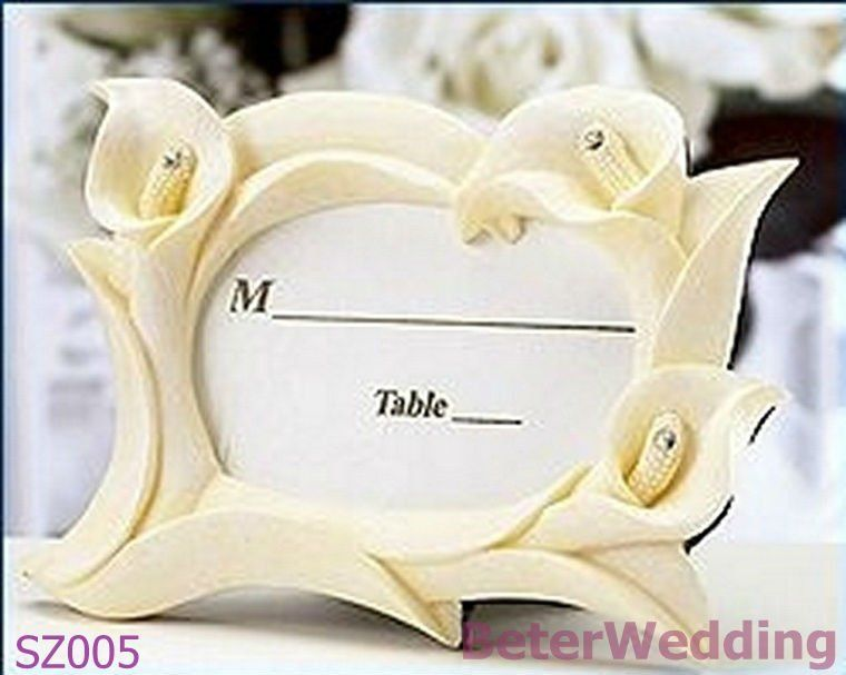 BeterWedding favors wholesale SZ005_Ivory calla lily placecard frame ...