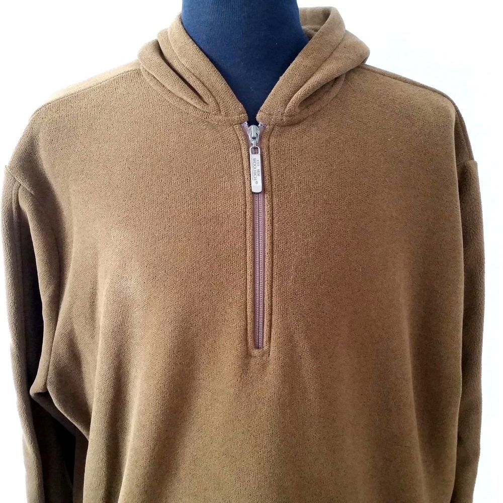 Woolrich Mens 2x Hooded Pullover Jacket Nut Brown Quarter Zip 1 4 Sweatshirt Woolrich Hooded Pullover Sweatshirt Men Hooded Jacket Sweatshirts Jackets [ 1000 x 1000 Pixel ]
