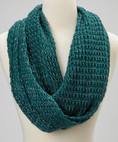 Take a look at this Green Shimmer Rikka Infinity Scarf by Rikka Scarves on #zulily today!