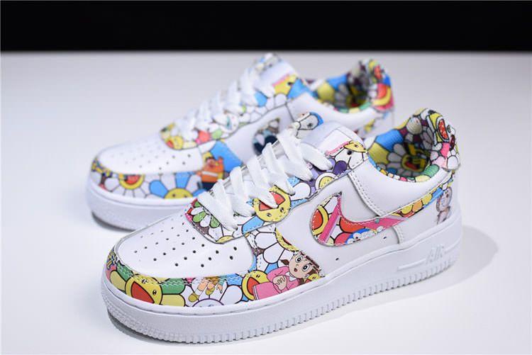 7862656fd29b Takashi Murakami x Doraemon x Nike air force 1 Low sneaker women sports  shoes