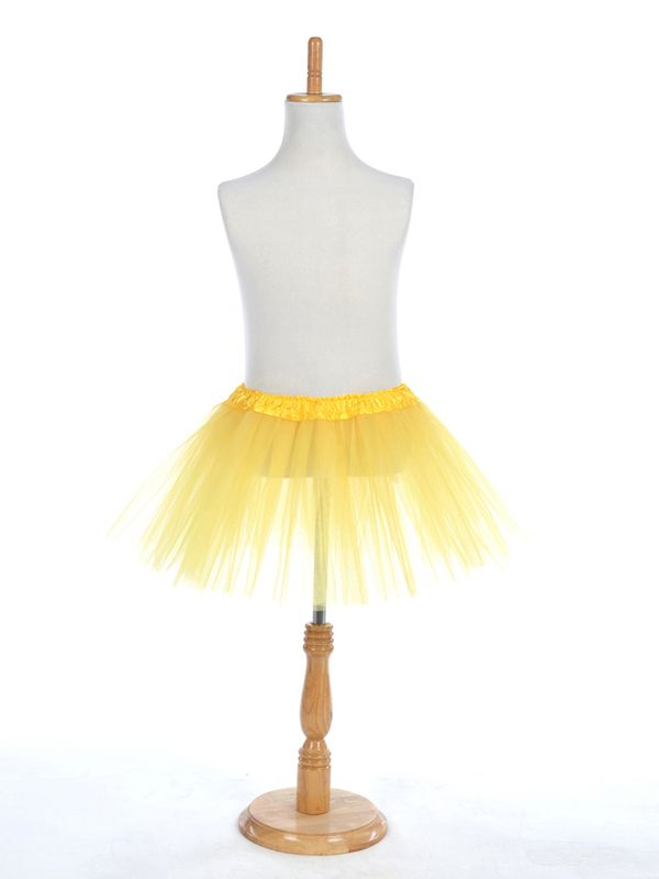 Yellow Girls Tutu Skirt in Tulle New Product:YESColor (Related):YellowNote:Bottom girth of the skirt is 105cm. Better to match with underwear.Silhouette:A-LineWaist:NaturalHemline/Train:Mini/ShortFabric:TulleFabric(main):TulleFabric(main):TulleOccasion:Special…