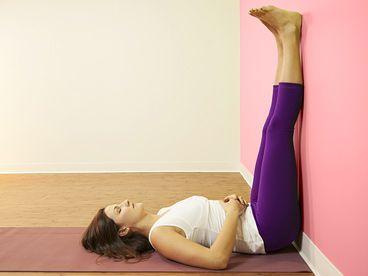 viparita karani the legs up the wall pose  inversions