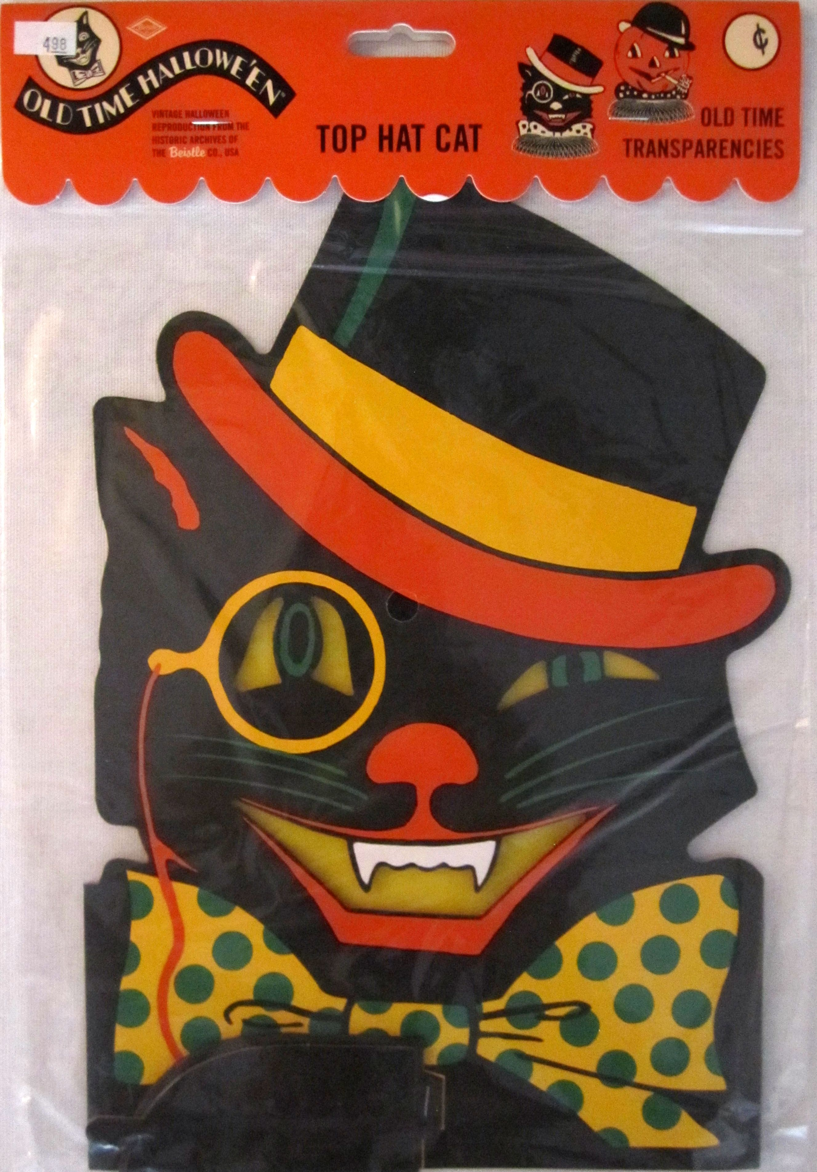 vintage halloween decorations reproduction vintage beistle early 2000s top hat cat