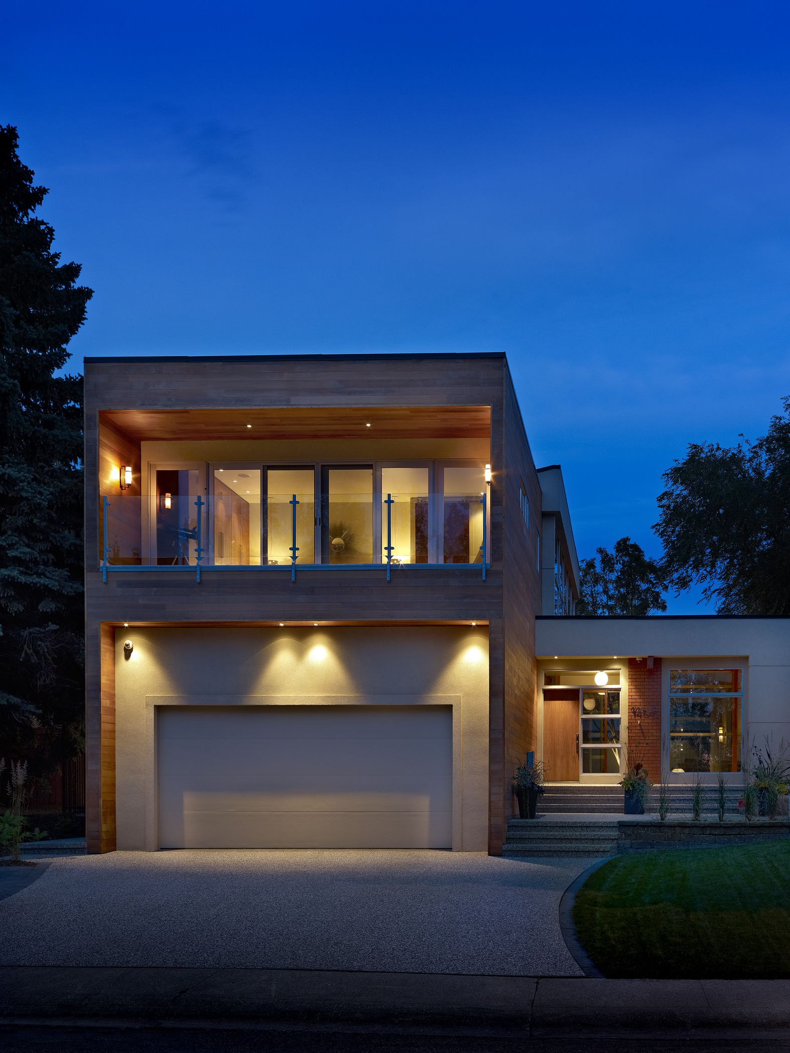 Home exterior built by birkholz homes in edmonton outdoor lighting home exterior built by birkholz homes in edmonton outdoor lighting enhances this custom home workwithnaturefo