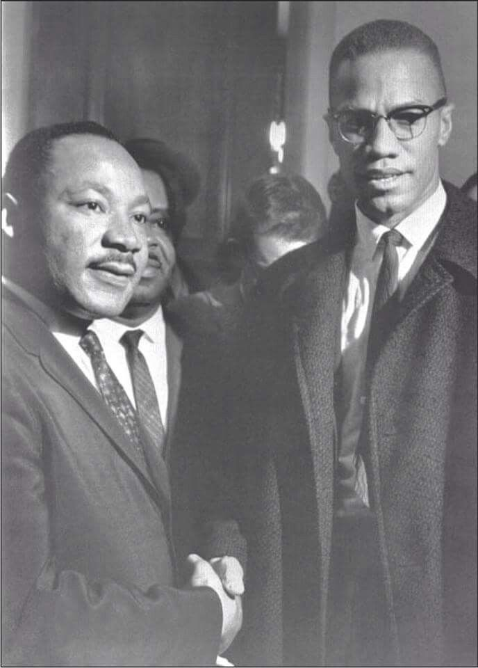 MALCOLM X MARTIN LUTHER KING POSTER Historic Handshake