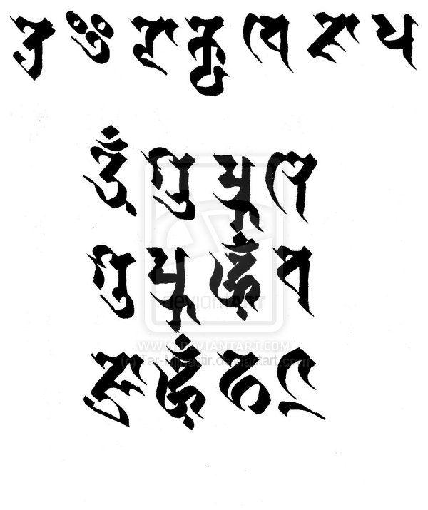 Trailokyavijaya (Gozanze Myo-O) mantra written in Siddham