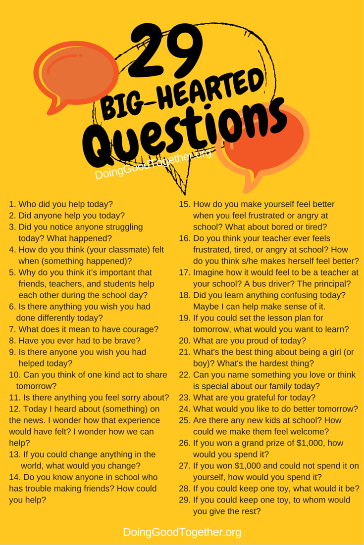 Good questions to ask to start a conversation would like