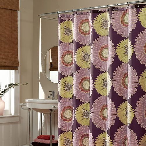 M Style Sunflowers Eggplant Shower Curtain Purple Shower Curtain Fabric Shower Curtains Curtains