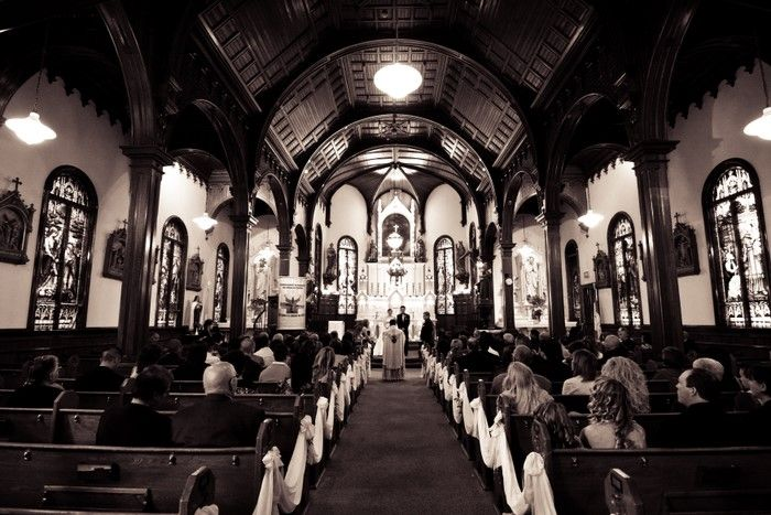 Have to have a black and white picture like this in the church