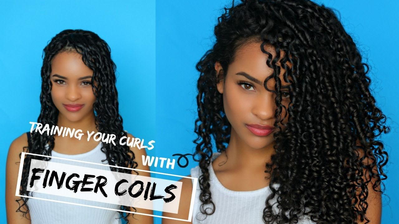 Transitioning Training Your Curls With Finger Coils Video Coiling Natural Hair Finger Coils Healthy Curly Hair