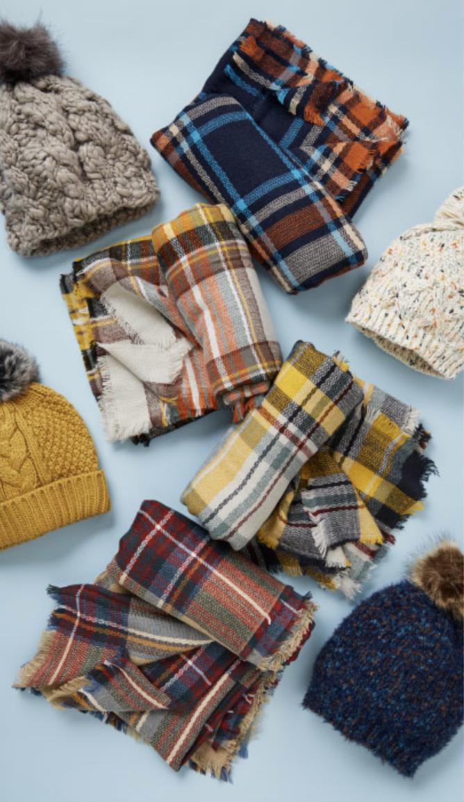 Cozy blanket scarves
