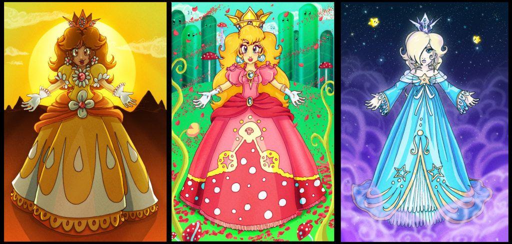 Mario princesses by Evanatt on deviantART
