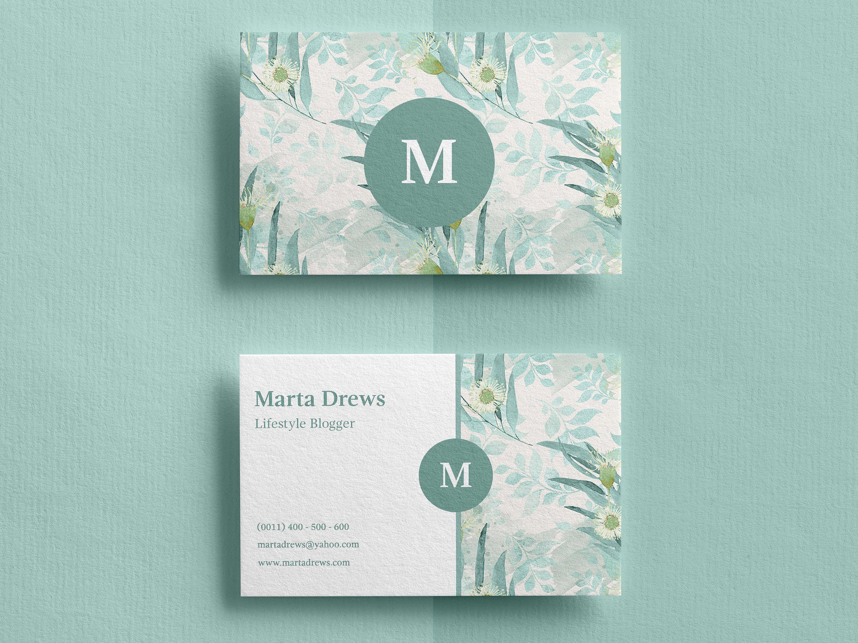 Business Card Template Custom Business Cards Business Card Etsy In 2021 Floral Business Cards Watercolor Business Cards Florist Business Card