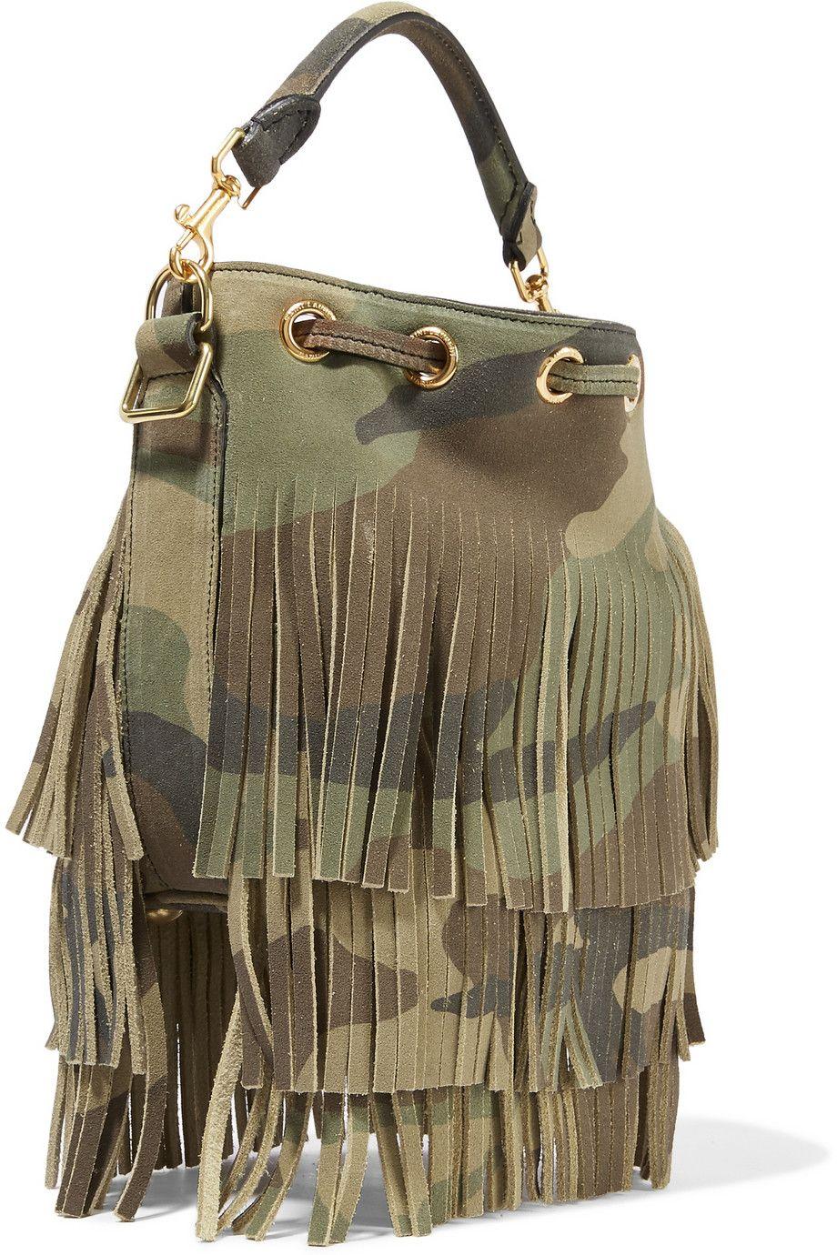 7aa49069d8 emmanuelle small fringed camouflage-print suede shoulder bag ...