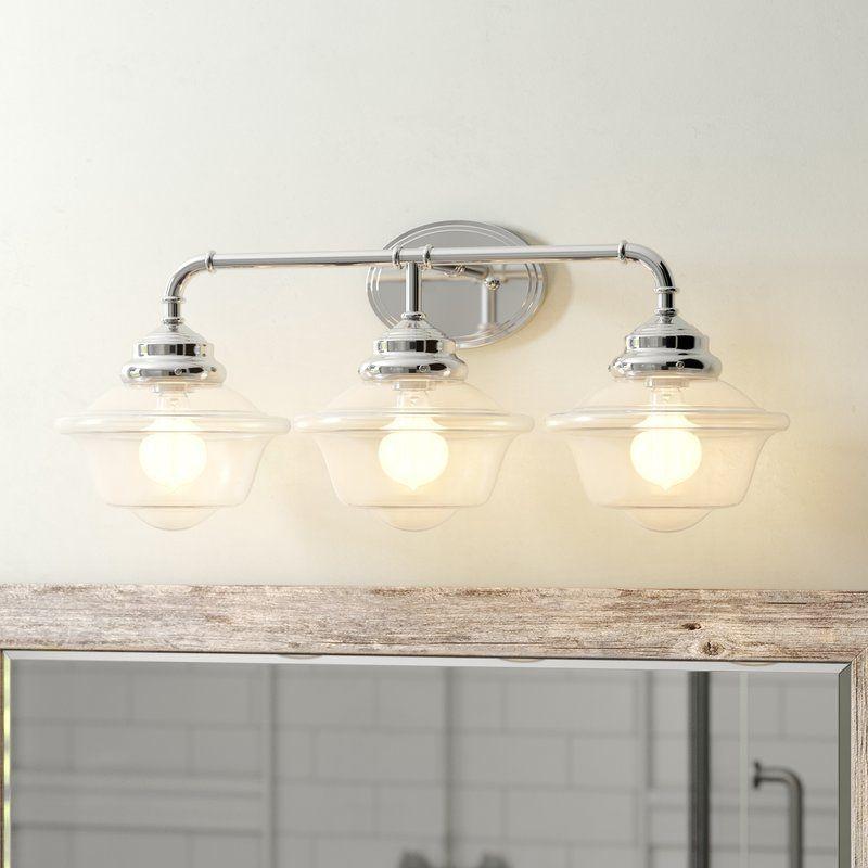 Vinton 3 Light Vanity Light In 2020 Vanity Lighting Shabby Chic Vanity Light Replace Light Fixture