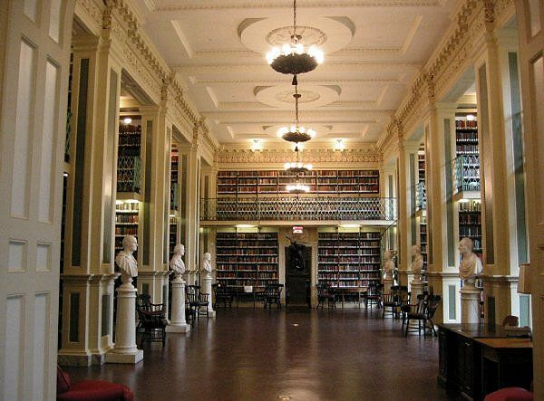 "The Boston Athenaeum; What all libraries should look like. Pity they make you pay for a yearly membership, but from what I've read it's ""worth every penny"" ;)"