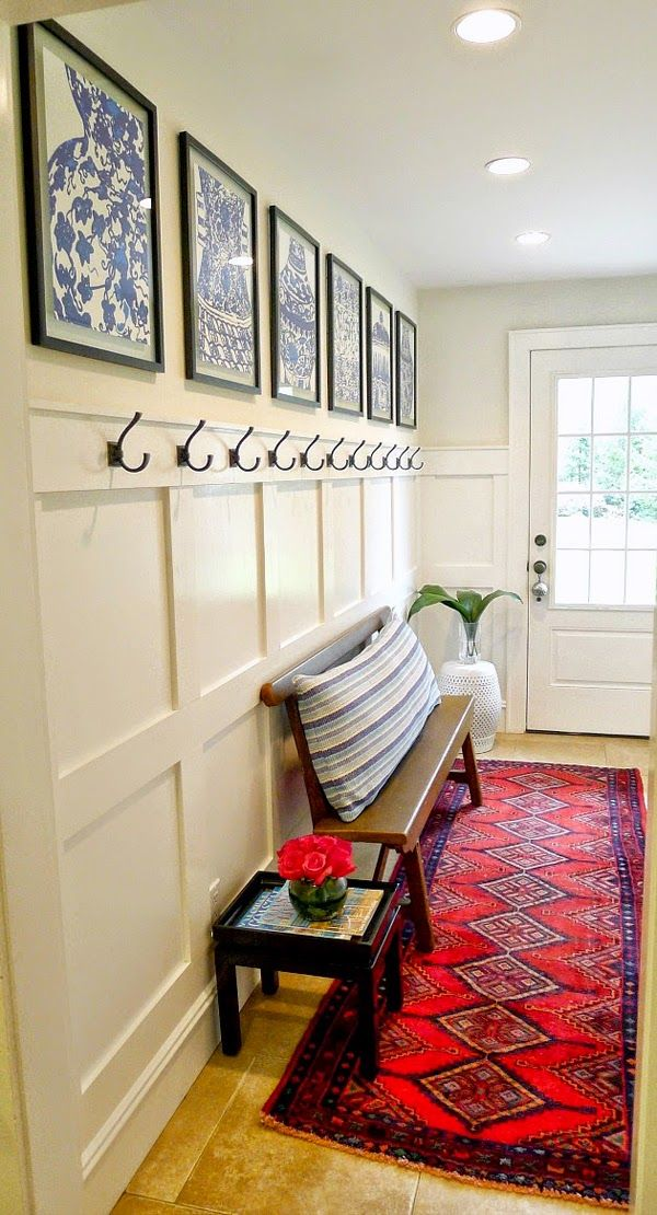 Blue White Monday One Room Challenge Linking Participants Mudroom Makeover Home Home Decor One room challenge linking participants