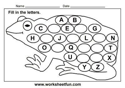frog worksheets for preschool missing letters worksheet for kindergarten download frog theme. Black Bedroom Furniture Sets. Home Design Ideas