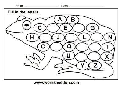 frog worksheets for preschool missing letters worksheet for kindergarten download frog theme. Black Bedroom Furniture Sets. Home Design Ideas