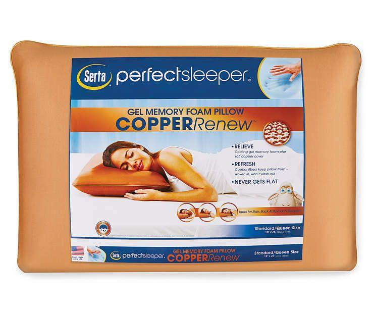 Serta Perfect Sleeper Copper Renew Memory Foam Pillow Foam