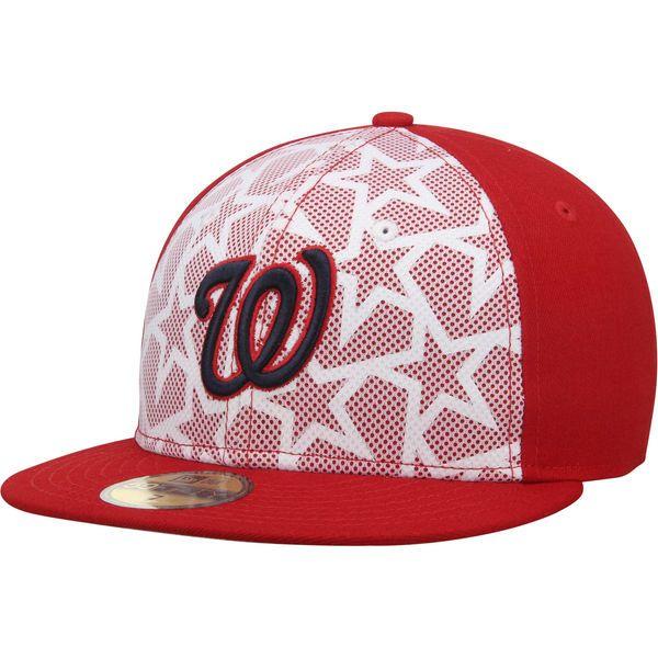c2febd5e4be Men s Washington Nationals New Era White Red Stars   Stripes 59FIFTY Fitted  Hat